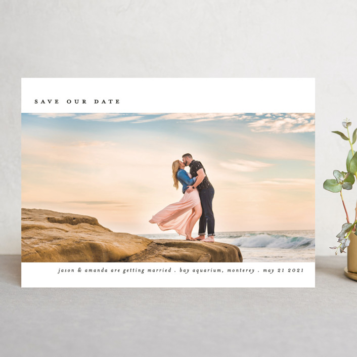 """""""Full Screen"""" - Save The Date Cards in Tuxedo by Liz Conley."""