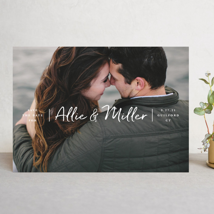 """""""Swiftly"""" - Save The Date Cards in Cloud by Jennifer Wick."""