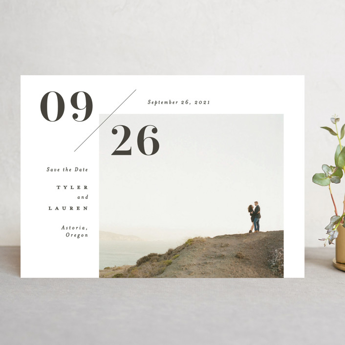 """""""Connection"""" - Save The Date Cards in Noir by Michelle Taylor."""