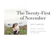 Frankie Save the Date Cards By Karen Schipper