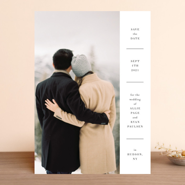 """Hudson"" - Save The Date Cards in Snow by Toast & Laurel."