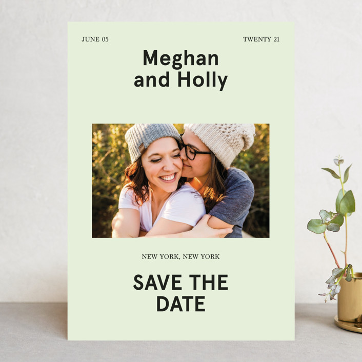 """""""Booklet"""" - Save The Date Cards in Fern by Jack Knoebber."""