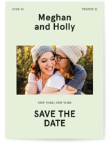 This is a green save the date by Jack Knoebber called Booklet with standard printing on smooth signature in standard.