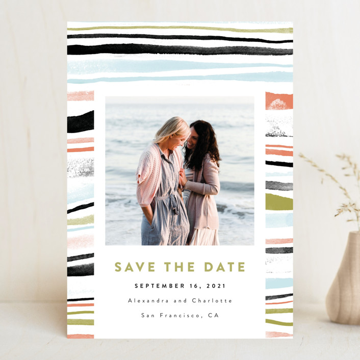 """watercolor layers"" - Save The Date Cards in Autumn by Anastasia Makarova."