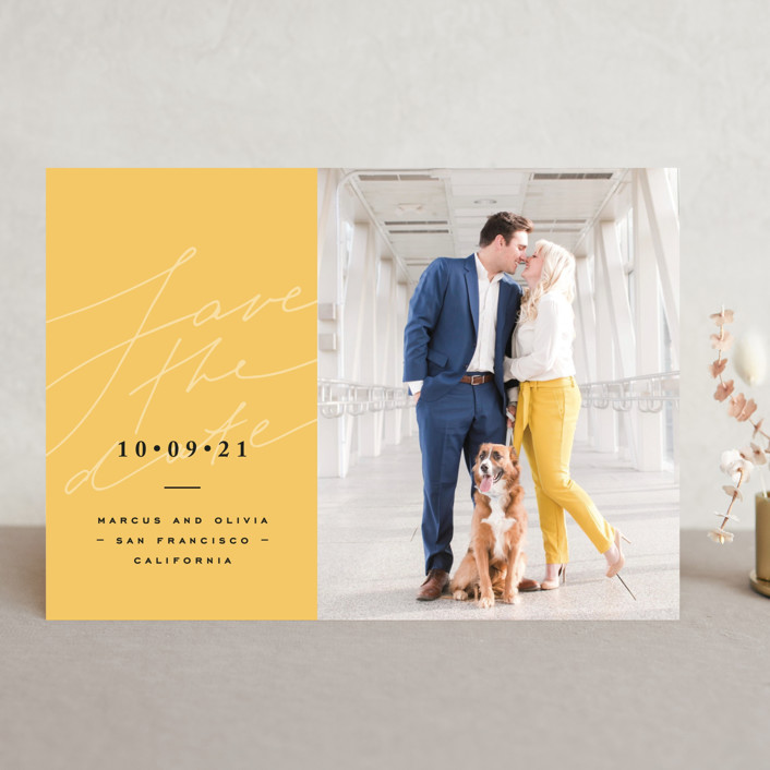 """""""bright mood"""" - Save The Date Cards in Honey by Anastasia Makarova."""