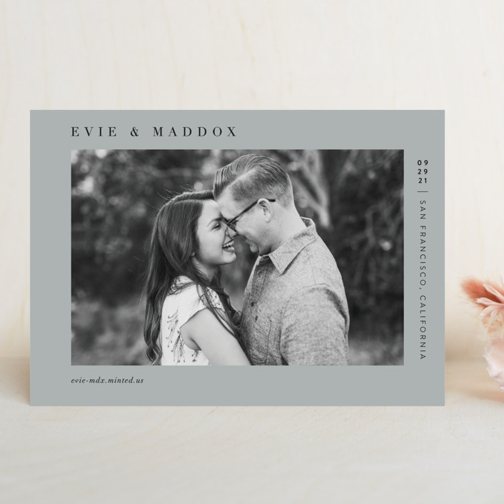 """""""Darling"""" - Save The Date Cards in Blush by Pine and Lark."""