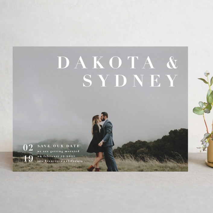 """""""minimalism"""" - Save The Date Cards in Ivory by Four Wet Feet Studio."""