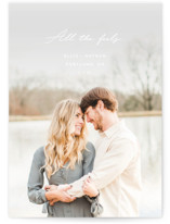 This is a colorful save the date by Chandler Lettin called all the feels with standard printing on smooth signature in standard.