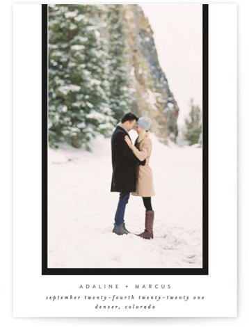 Drop Frame Save The Date Cards