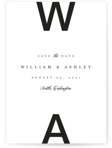 Initially Bold Save The Date Cards