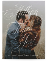 This is a white save the date by Paper Raven Co. called A Million Times with standard printing on smooth signature in standard.