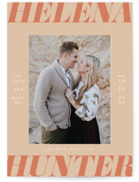 This is a orange save the date by Ashlee Townsend called Terra Cotta with standard printing on smooth signature in standard.