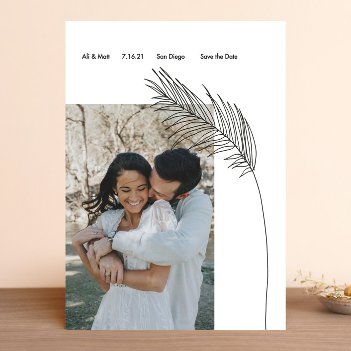"""""""Palm"""" - Save The Date Cards in Night by Elsa Duncan."""