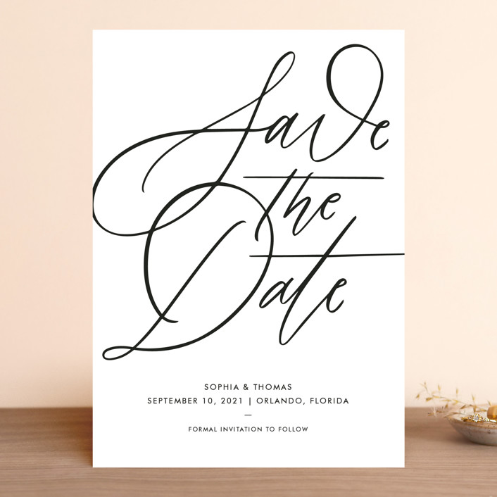 """""""Delicate Dates"""" - Save The Date Cards in Snow by Kristen Smith."""