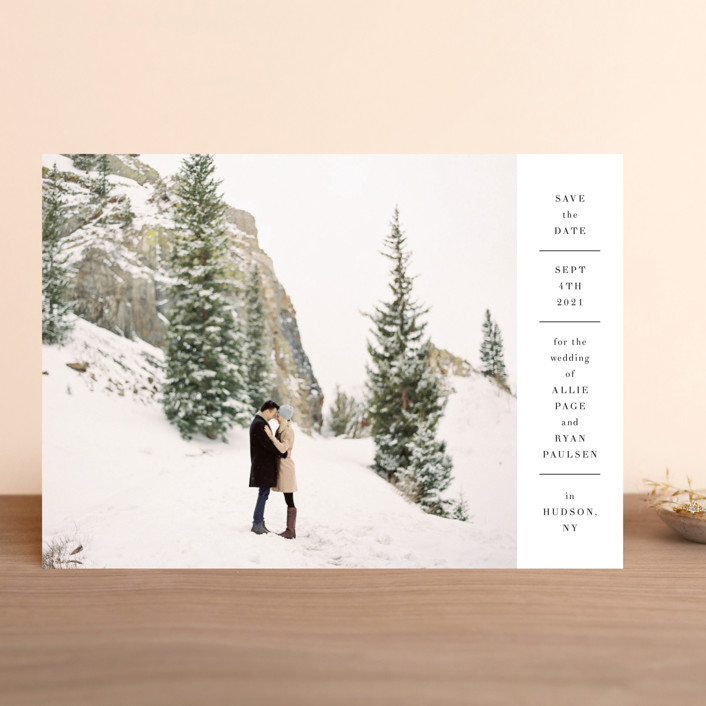 """""""Hudson"""" - Save The Date Cards in Snow by Toast & Laurel."""