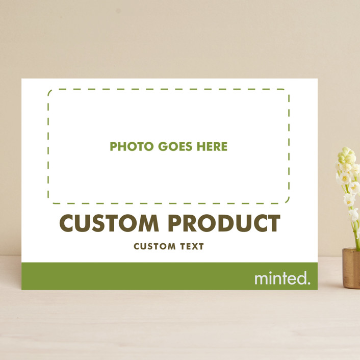 """""""Landscape"""" - Save The Date Cards in Charcoal by Minted Custom."""