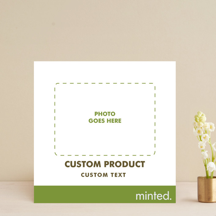 """""""Square"""" - Save The Date Cards in Charcoal by Minted Custom."""