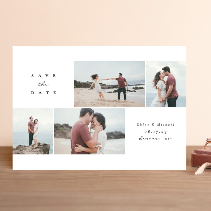 """""""Flipped"""" - Save The Date Cards in Ink by Brianne Larsen."""