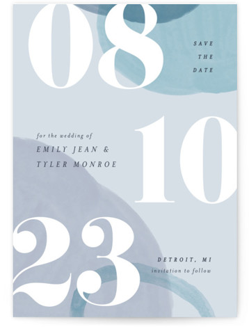 Big Bold Save The Date Cards