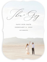 This is a black save the date by Snow and Ivy called Enchantment with standard printing on smooth signature in standard.