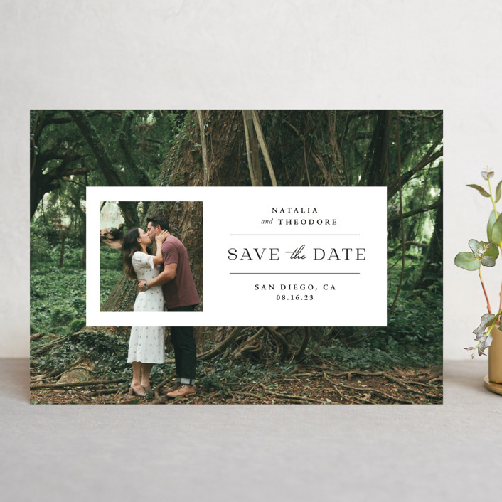 """""""Window"""" - Save The Date Cards in Lily by Danie Romrell."""