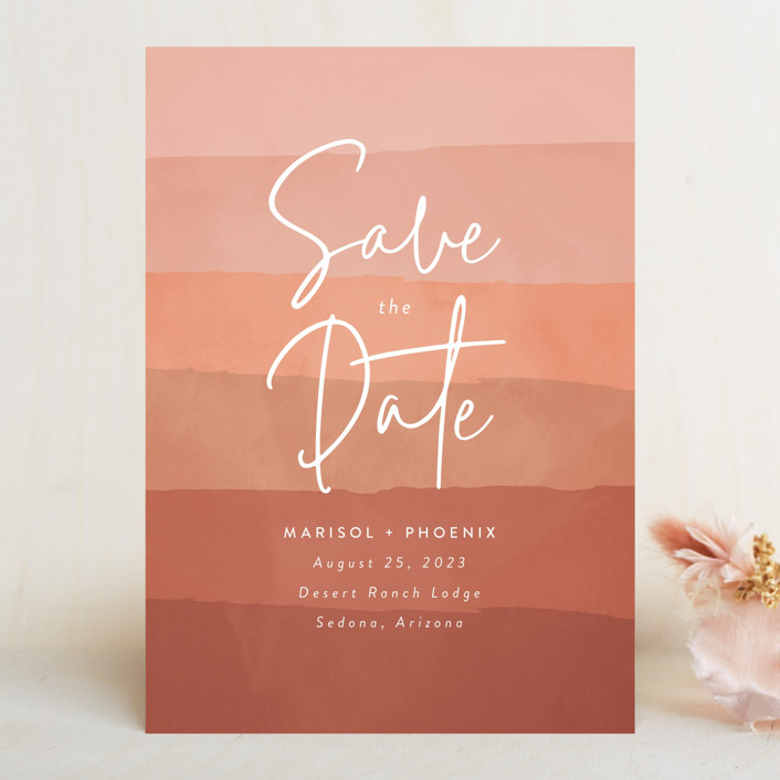 """""""desertscape"""" - Bohemian Save The Date Cards in Canyon by Susan Asbill."""