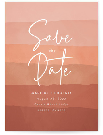 desertscape Save The Date Cards