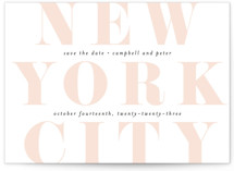 This is a pink save the date by Kimberly FitzSimons called Locale with standard printing on signature in standard.
