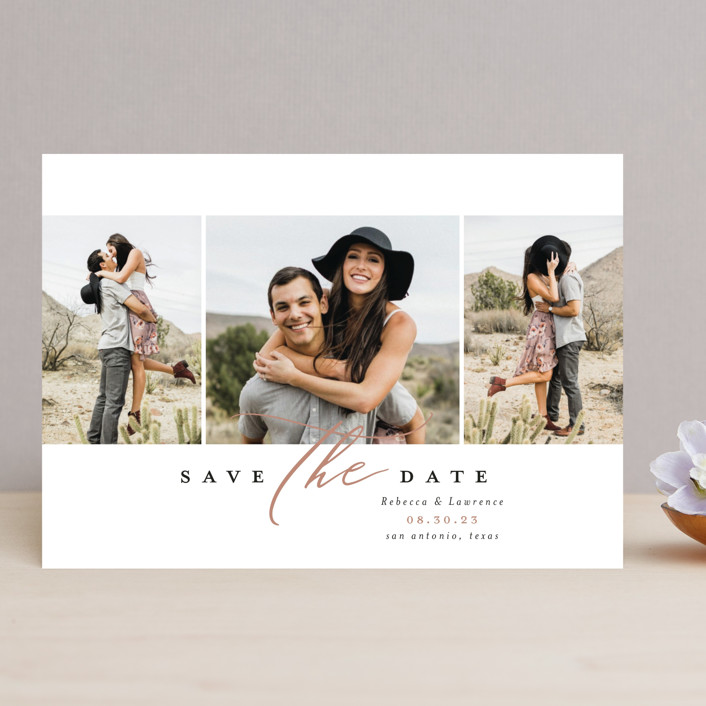 """""""sweet thing"""" - Save The Date Cards in Rust by Laura Hamm."""