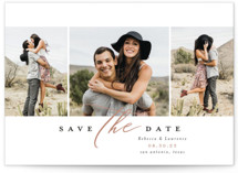 This is a brown save the date by Laura Hamm called sweet thing with standard printing on signature in standard.