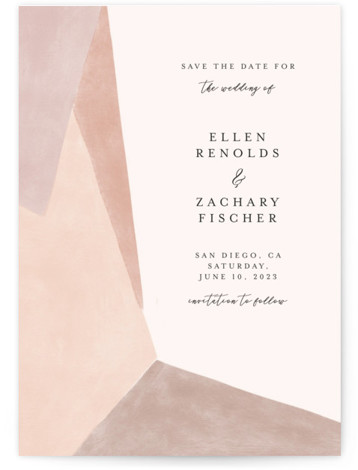 Sand Shapes Save The Date Cards