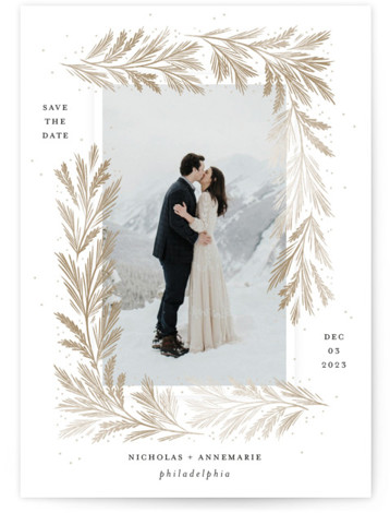 Frost Magic Save The Date Cards