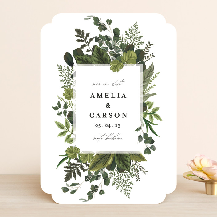 """""""Natures Forest"""" - Save The Date Cards in Fern by Susan Moyal."""
