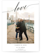 This is a black save the date by Debb W called Love is Love with standard printing on signature in standard.