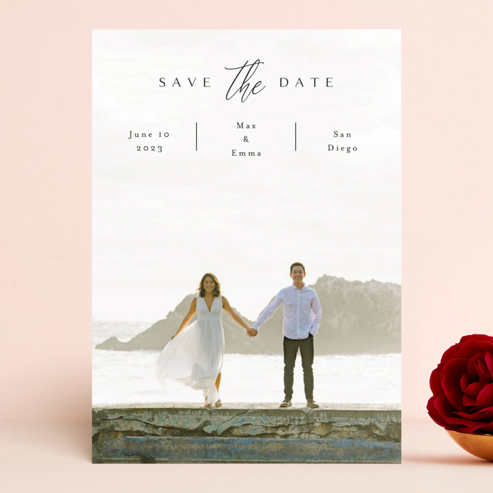 """the announcement"" - Save The Date Cards in Onyx by Kasia Labocki."