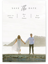 This is a black save the date by Kasia Labocki called the announcement with standard printing on smooth signature in standard.