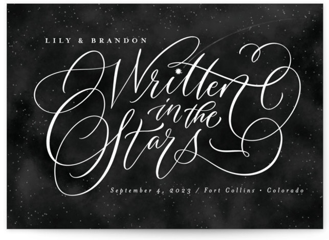 Starry-Eyed Save The Date Cards