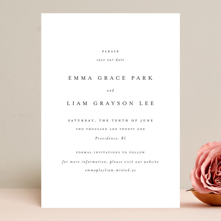 """A Thousand Years"" - Save The Date Cards in Classic White by Design Lotus."