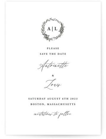 Antoinette Save The Date Cards
