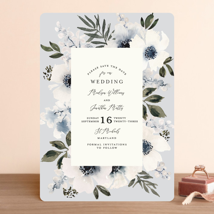 """""""Nantucket Romance"""" - Save The Date Cards in Marine by Chris Griffith."""