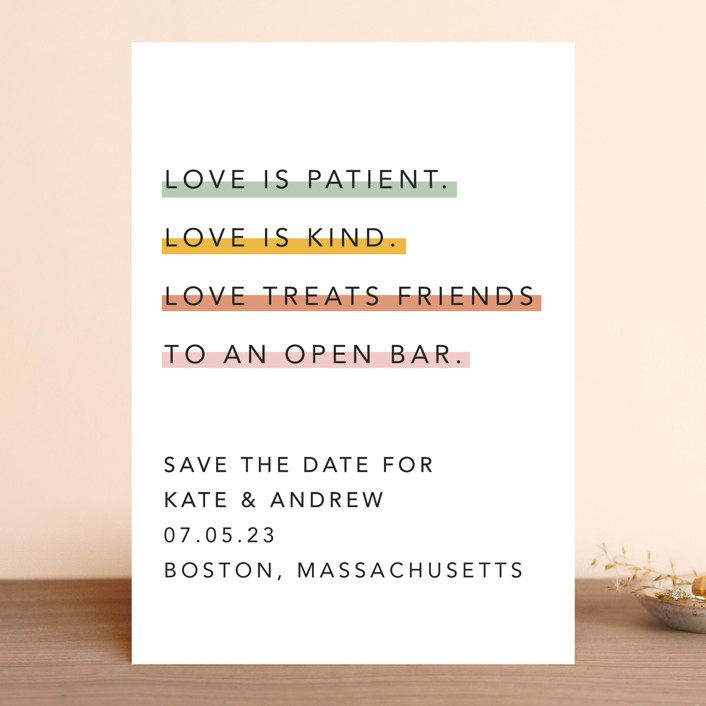 """Love is..."" - Save The Date Cards in Sobert by Hudson Meet Rose."