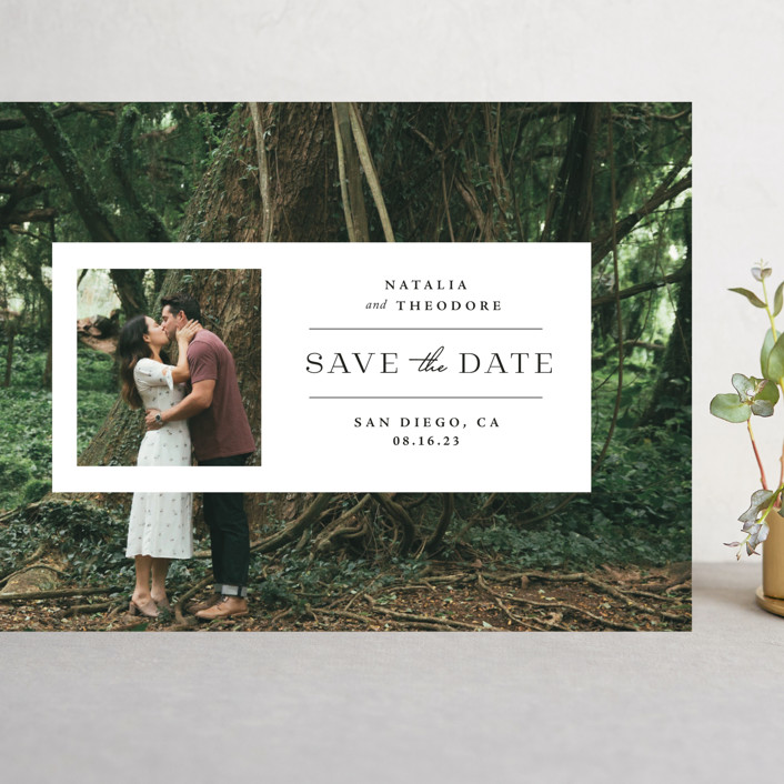 """""""Window"""" - Grand Save The Date Cards in Lily by Danie Romrell."""