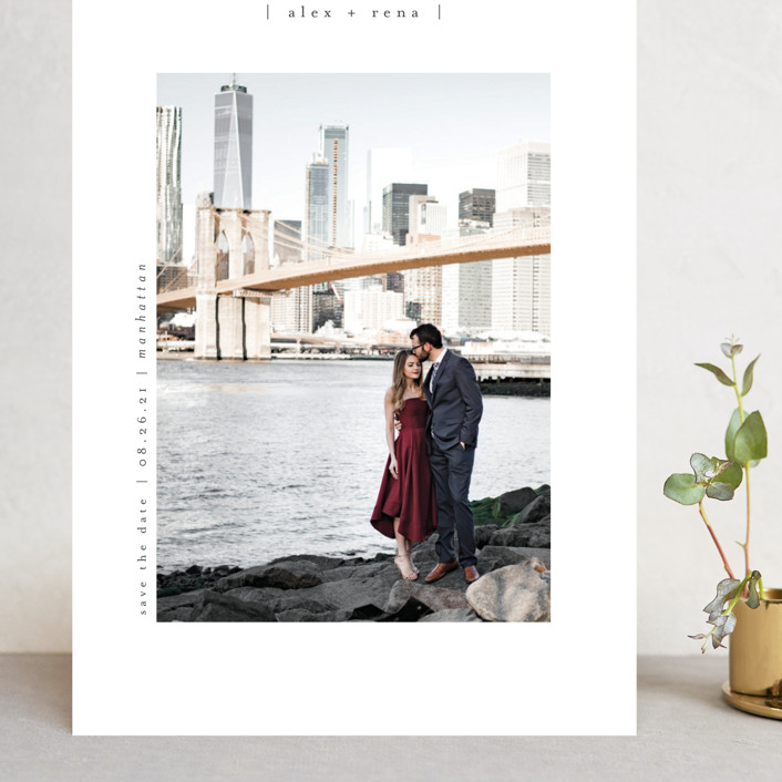"""""""Cityscape"""" - Grand Save The Date Cards in Onyx by Faith Dorn."""