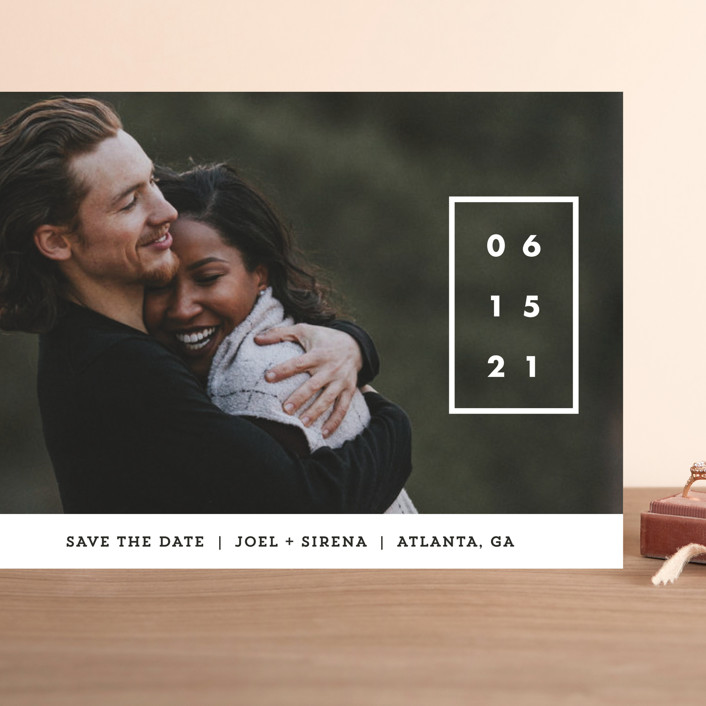 """""""Cherished Date"""" - Grand Save The Date Cards in Pearl by Chryssi Tsoupanarias."""