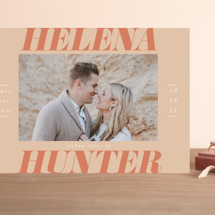 """Terra Cotta"" - Grand Save The Date Cards in Terra Cotta by Ashlee Townsend."