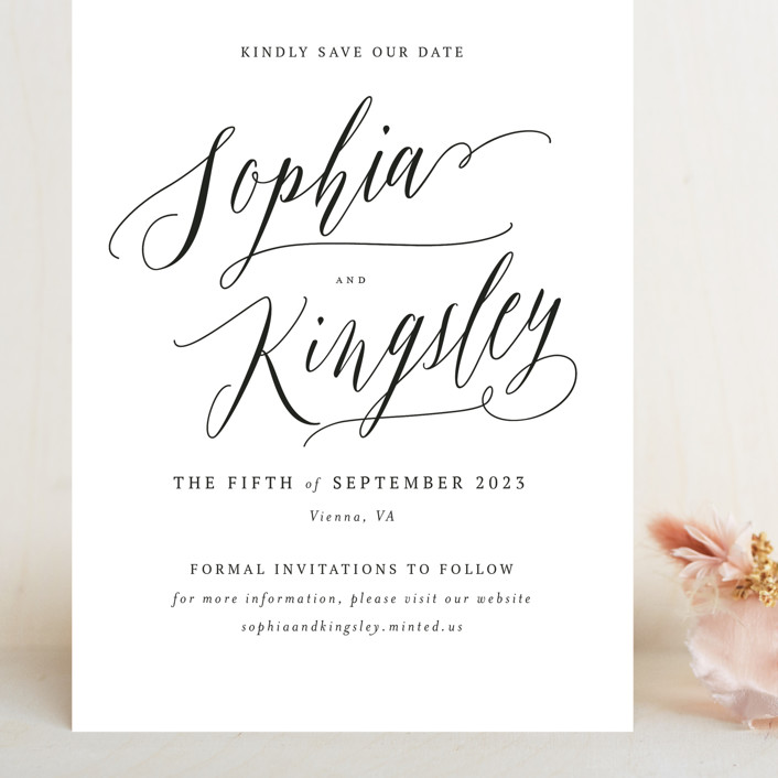 """""""Nothing Compares To You"""" - Grand Save The Date Cards in Cream by Design Lotus."""