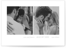 This is a gold save the date by Seven Swans called Simply bliss with standard printing on smooth signature in grand.
