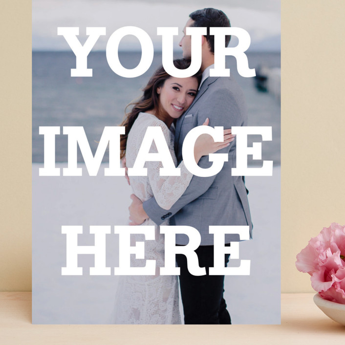 """""""The Big Picture"""" - Grand Save The Date Cards in Ivory by Minted."""