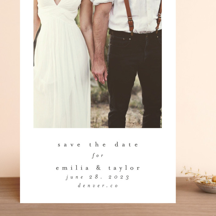 """meant to be"" - Grand Save The Date Cards in Ebony by Angela Thompson."