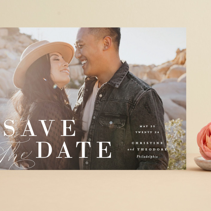 """""""Composition"""" - Grand Save The Date Cards in Cloud by Ashley Rosenbaum."""